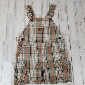 Osh Kosh Baby Boys Shortalls 18 Months Tan Orange